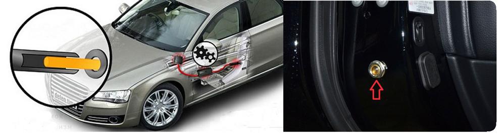 Блокиратор на двери автомобиля