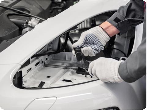 Установка замка для защиты фар Porsche